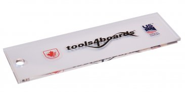 Tools4Boards Wax Scraper Snowboard and Wide Ski (4mm Thick)